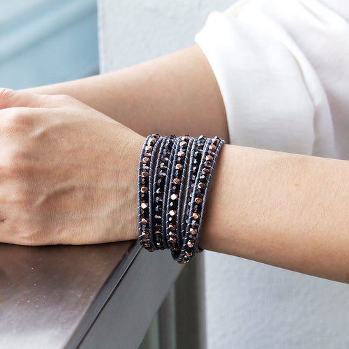 It's a Wrap Bracelet - Indigo
