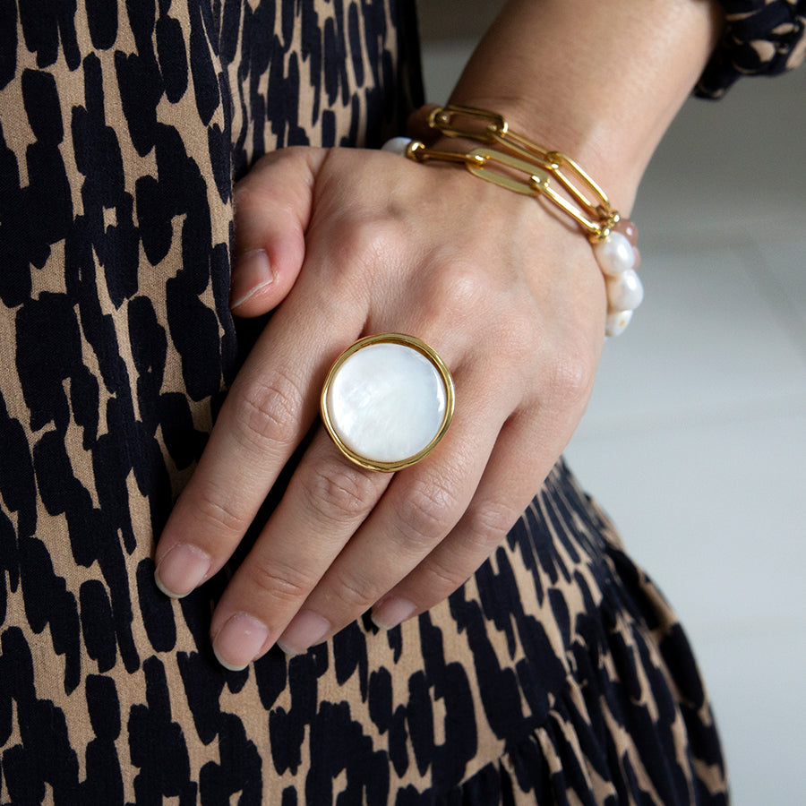 Velatti XL Mother of Pearl Ring