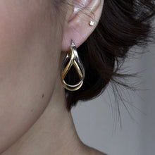 women's earring elegant gold and silver