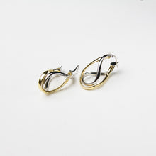 925 sterling silver and gold earrings