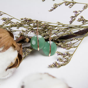 Yun Aventurine Hook Earrings