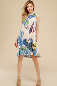 Floral pocket dress- plus size