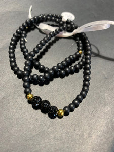 Triple black fireball bracelet