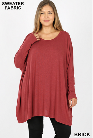 Oversize plus size light poncho