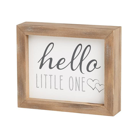 Hello little one sign