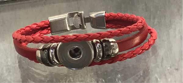 Snap Leather Bracelet
