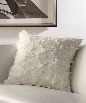 Pillow with fringe