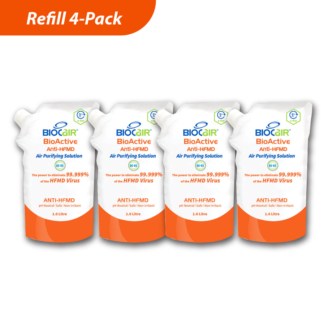 4-Pack BioActive Anti-HFMD Air Purifying Solution
