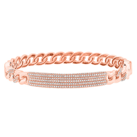 Chain Link Diamond Bangle