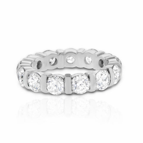 Round Channel Set Wedding Band
