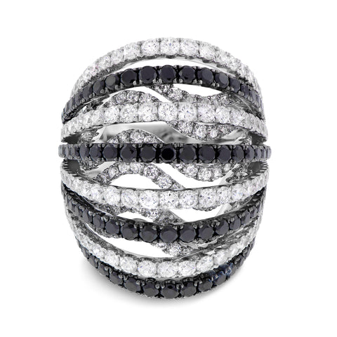 Black and White Fashion Ring