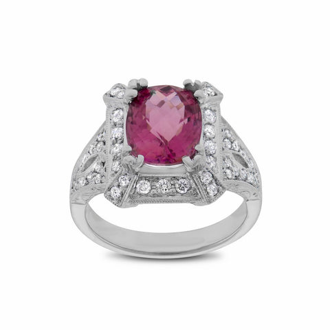 Pink Tourmaline Fashion Ring