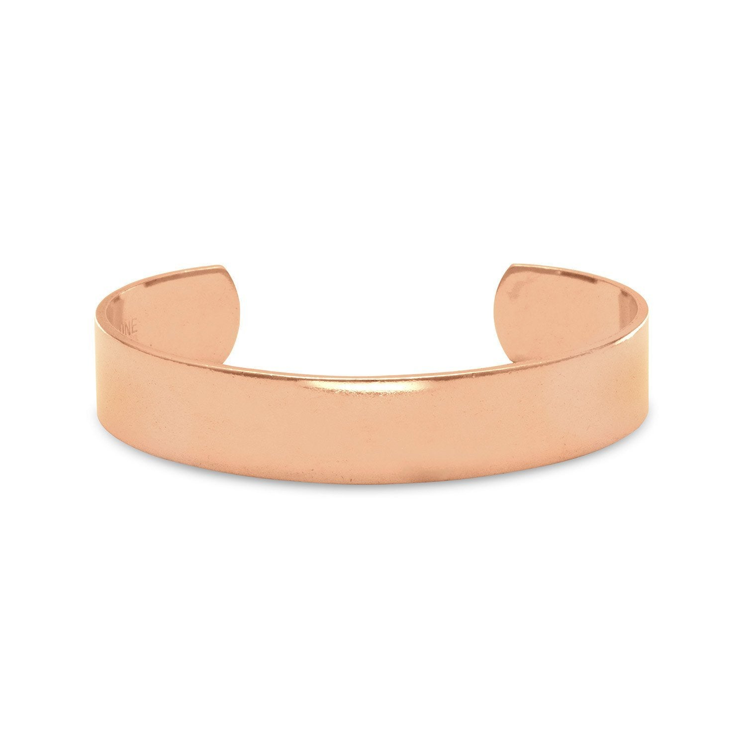 18k Rose Gold Plated Polished Cuff Bracelet