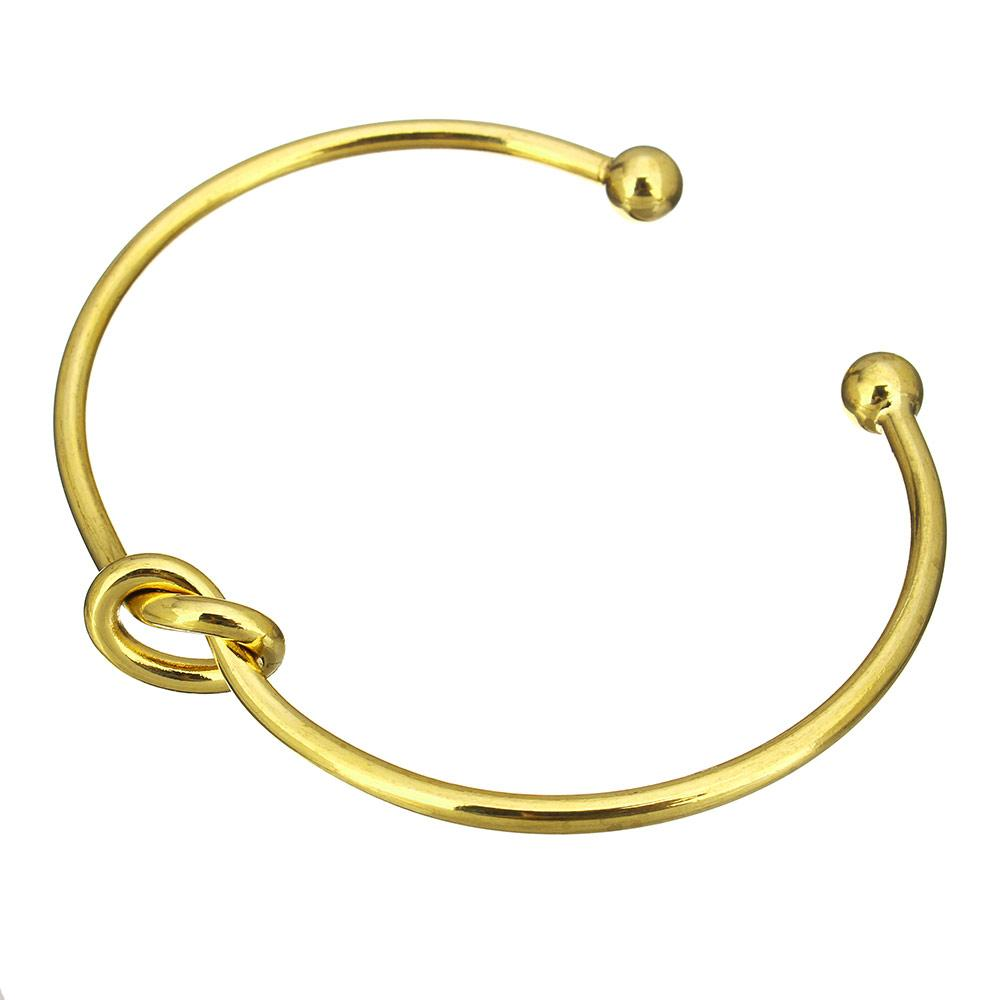 18k Gold Knotted Bangle