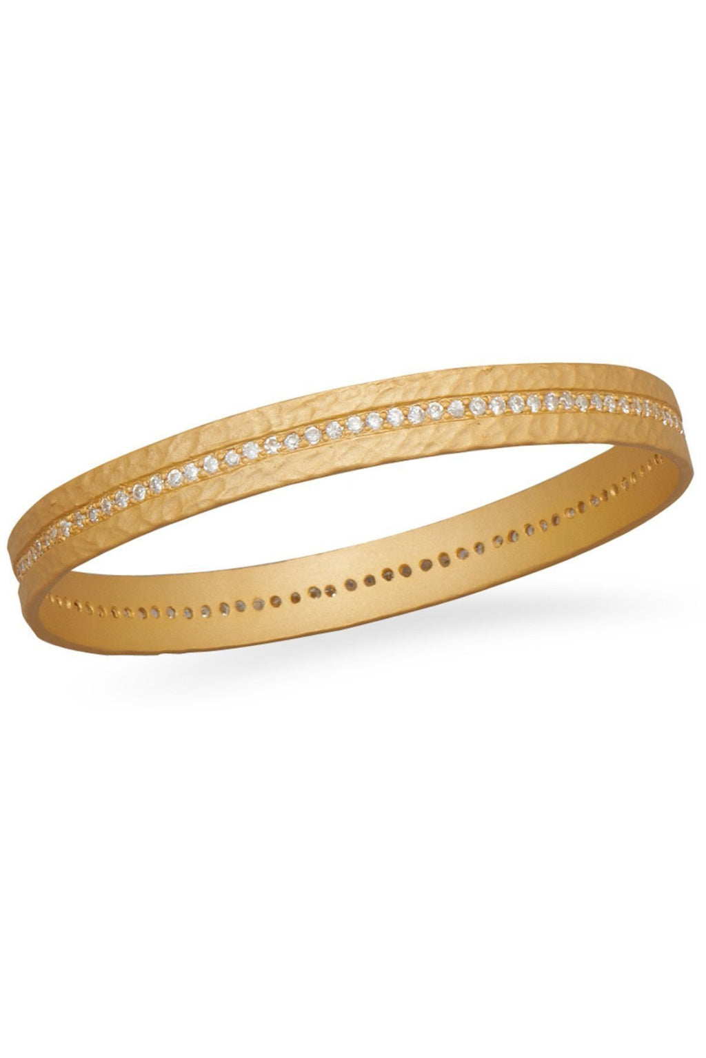 18K Gold Plated Cz Eternity Bangle