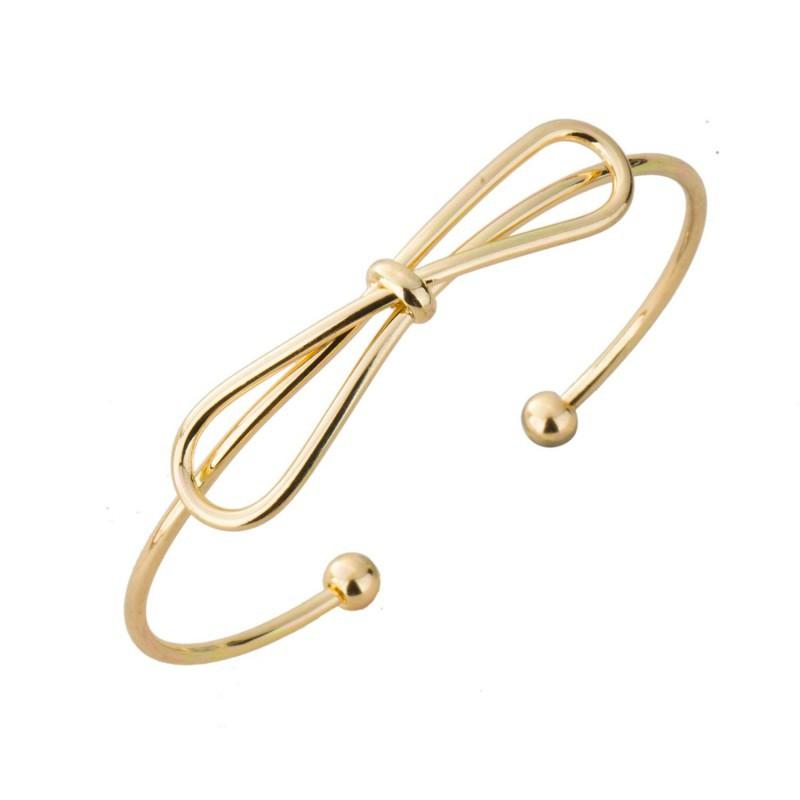 18k Gold Bow Knotted Bangle