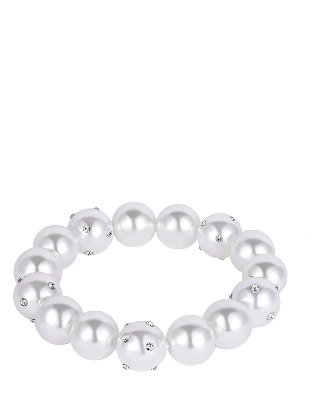 Pearl & Crystal Embelished Stretch Bracelet
