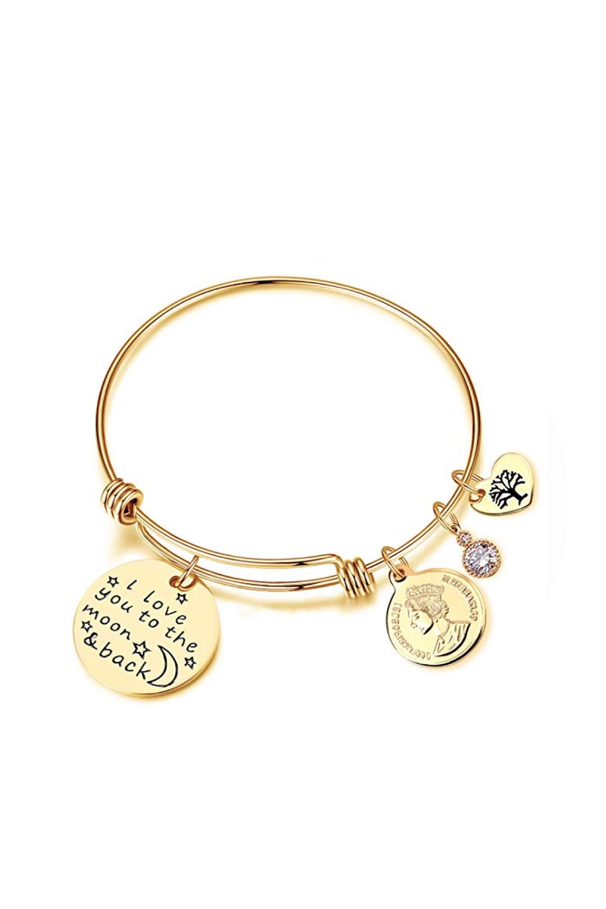 18K Gold Charm Love you Bracelet