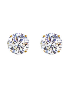 18k Gold Cz Stud Earrings