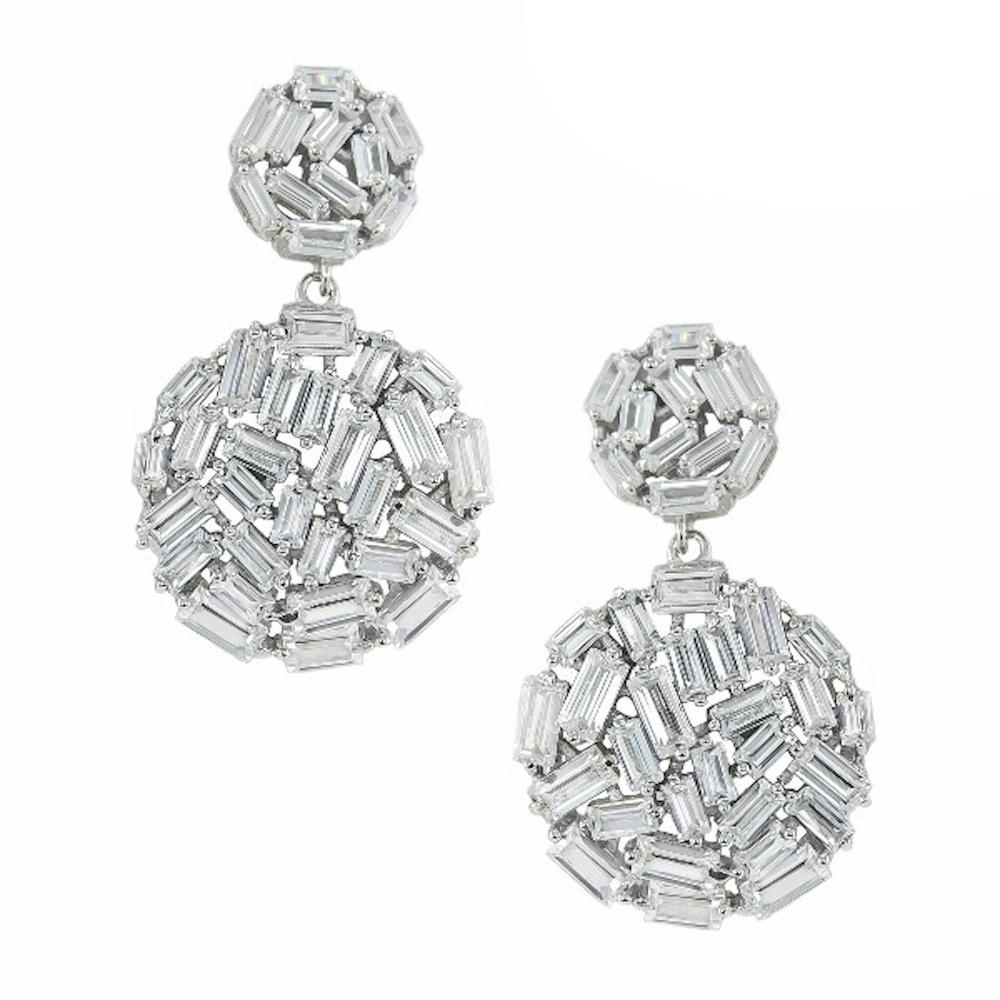 Sterling Silver Double Disc Earrings