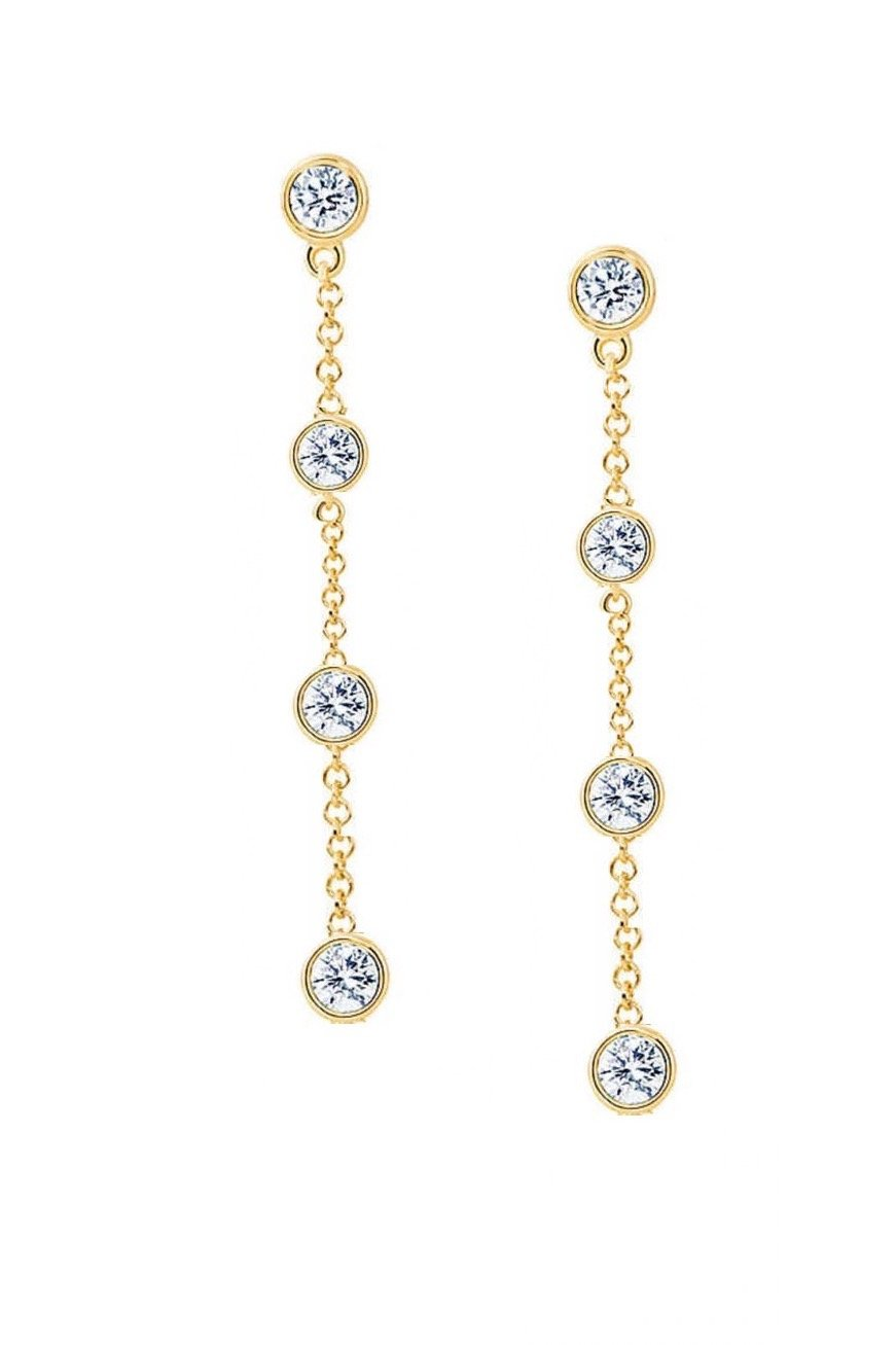 18K Gold Chain Drop Earrings