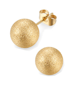 18K Matte Gold Plated Stud Earrings