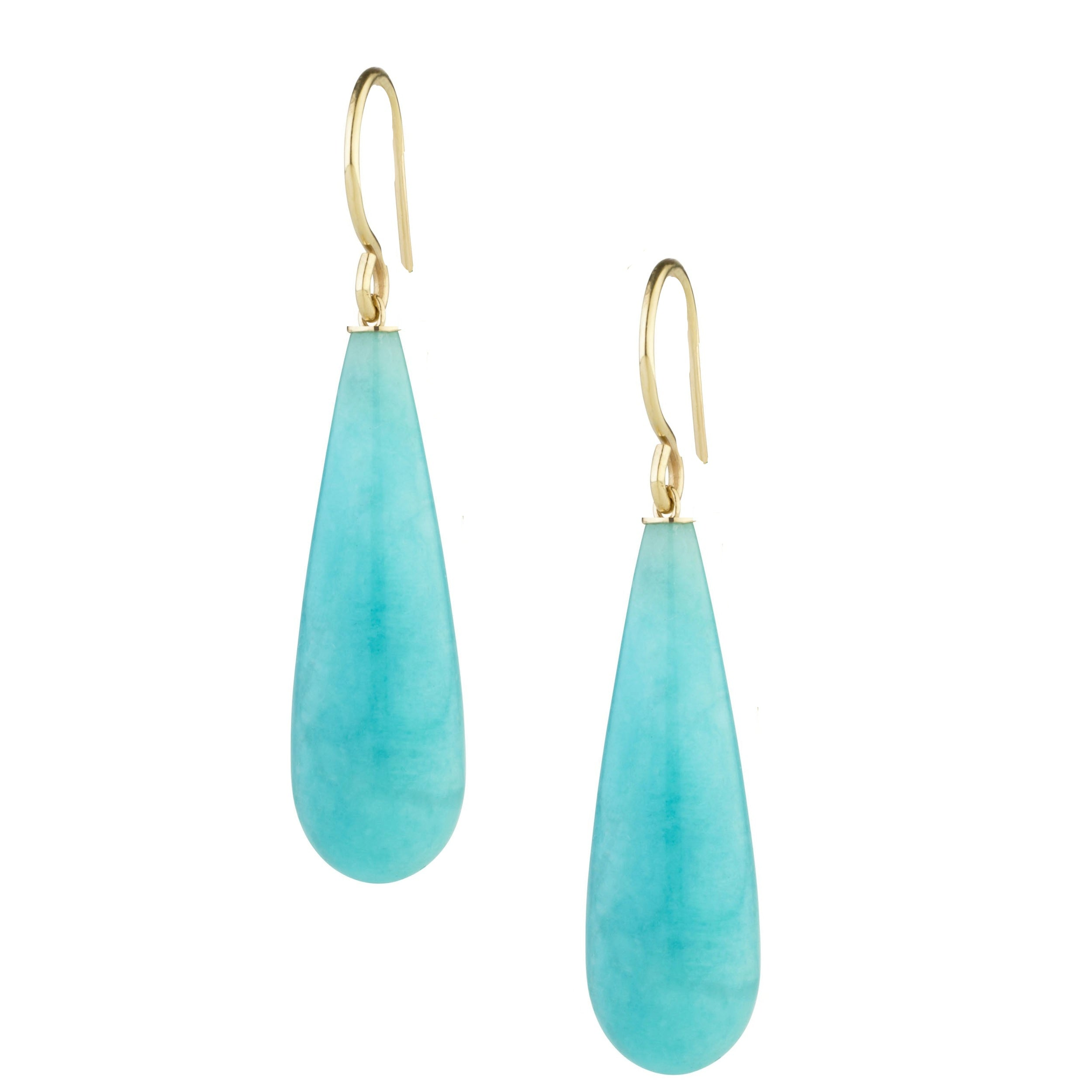 18k Gold Plated Turquoise Tear Drop Earrings