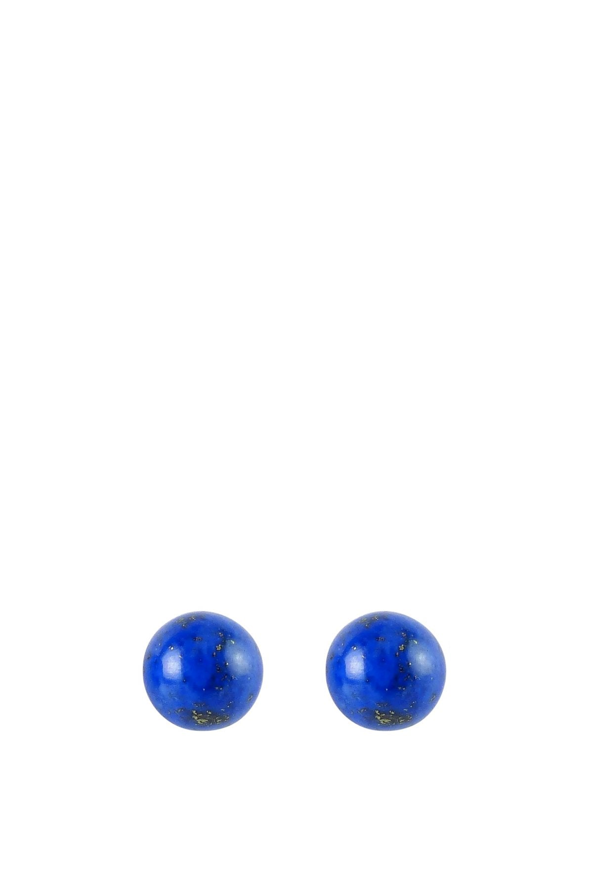Sterling Silver Lapis Stud Earrings