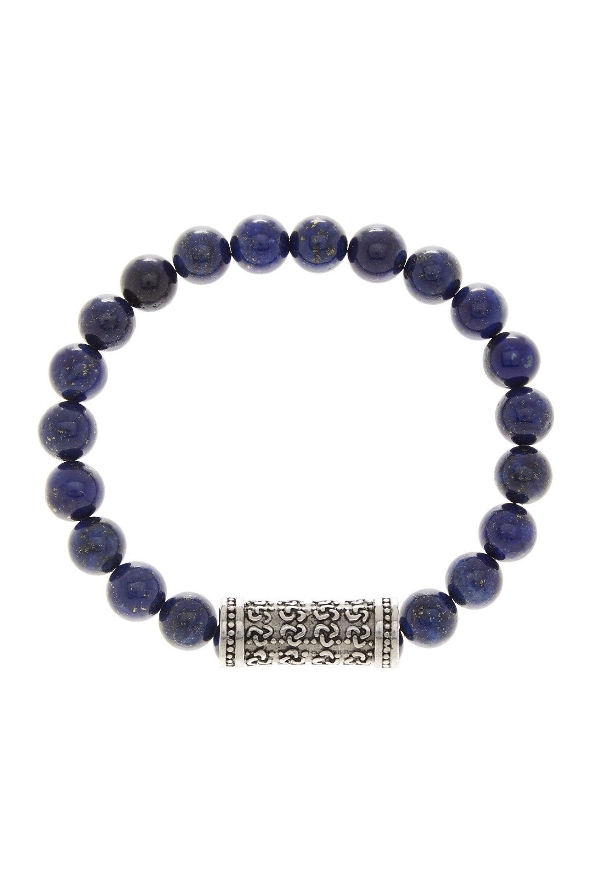 Lapis & Carved Bar Bracelet