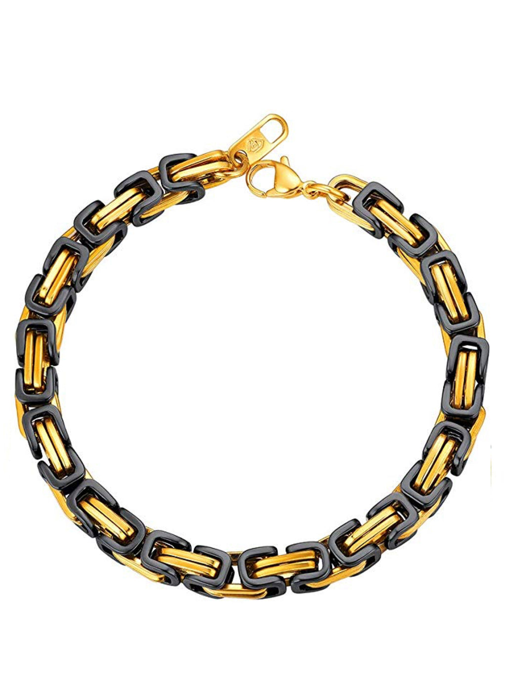 18k Gold & Black two Tone Bracelet