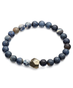 Geometric Blue Gemstone Bracelet