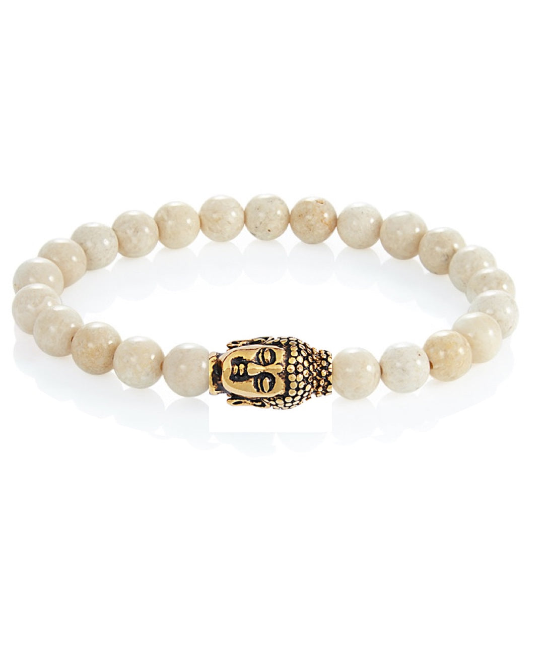 18k Gold Riverstone Carved Buddha Bracelet