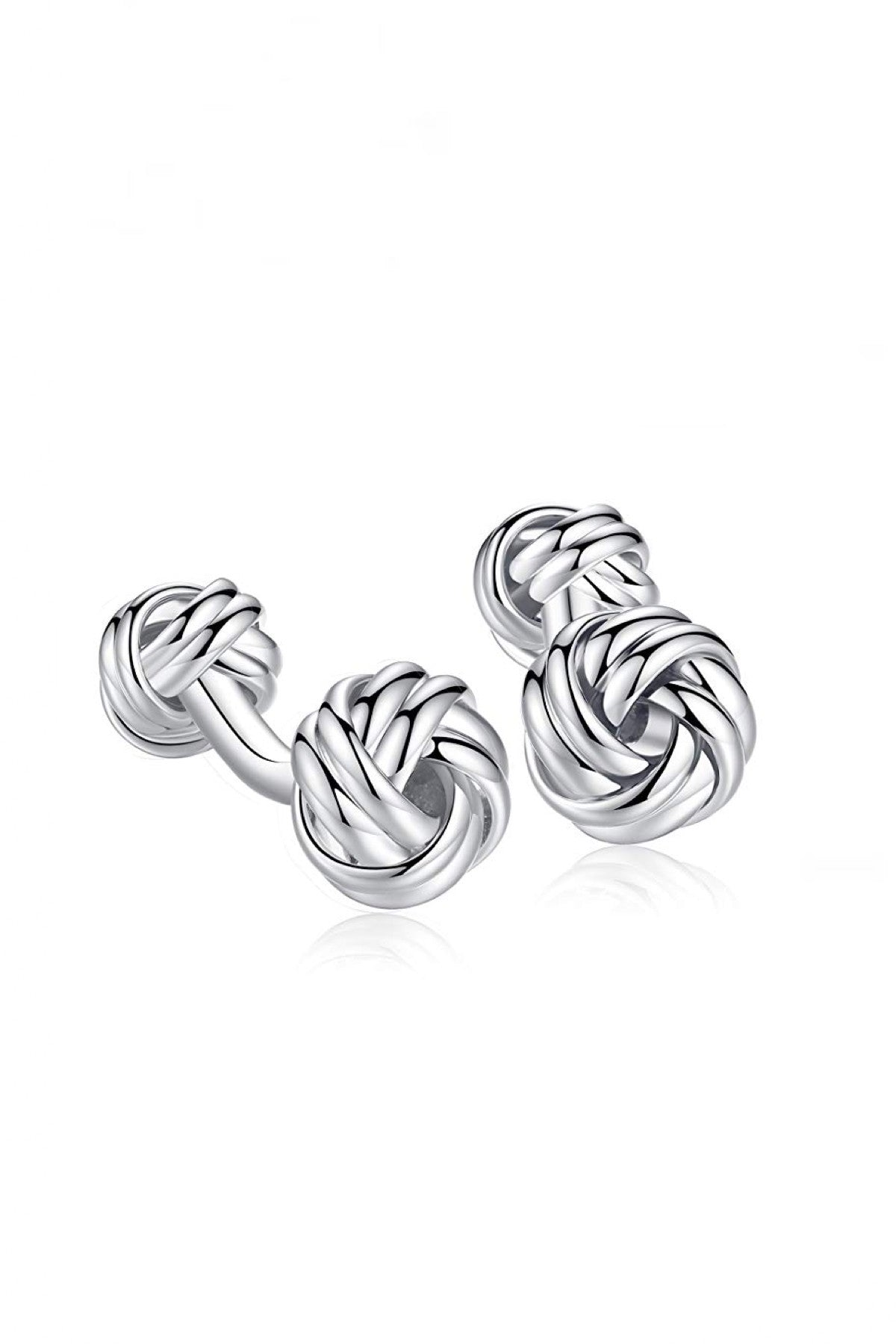 Silver Double Knot Cufflinks