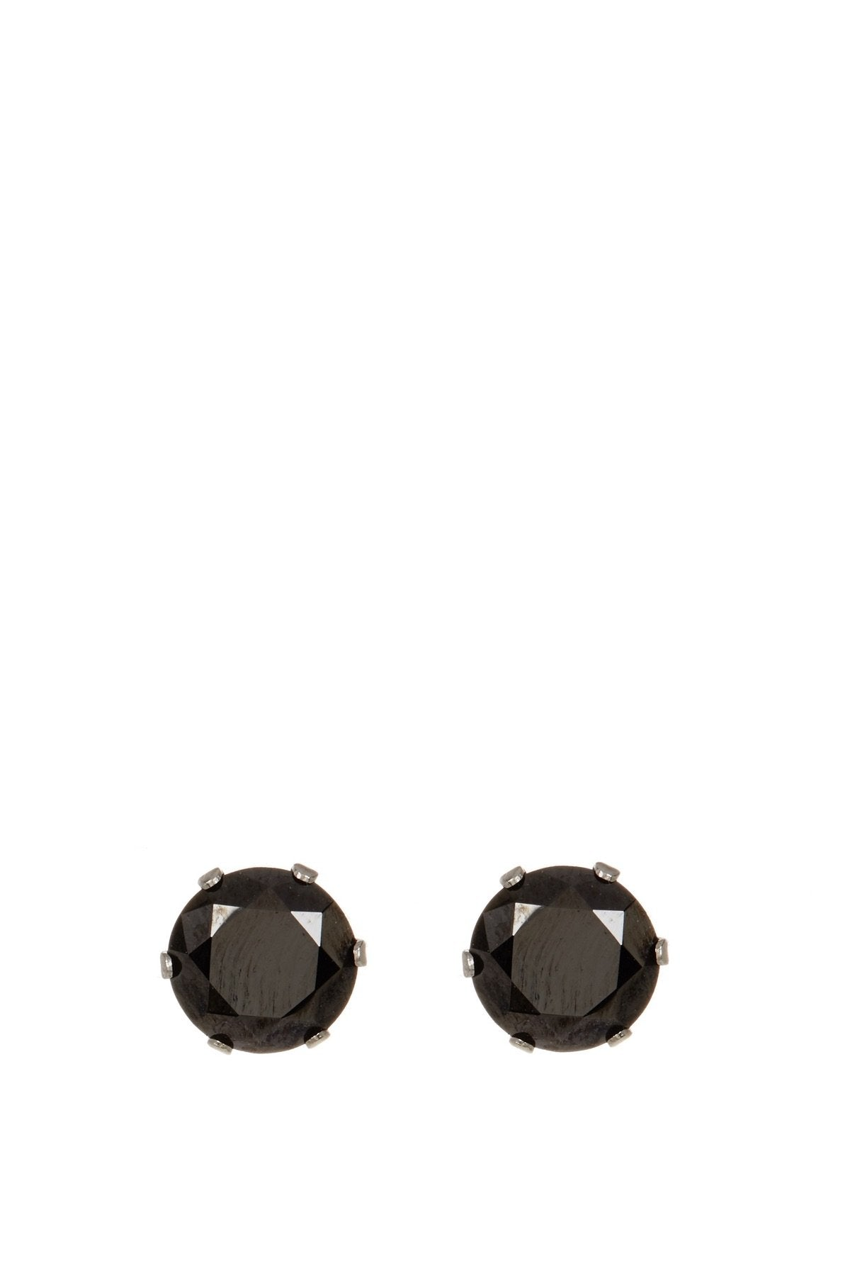 Black Cz Stud Earrings