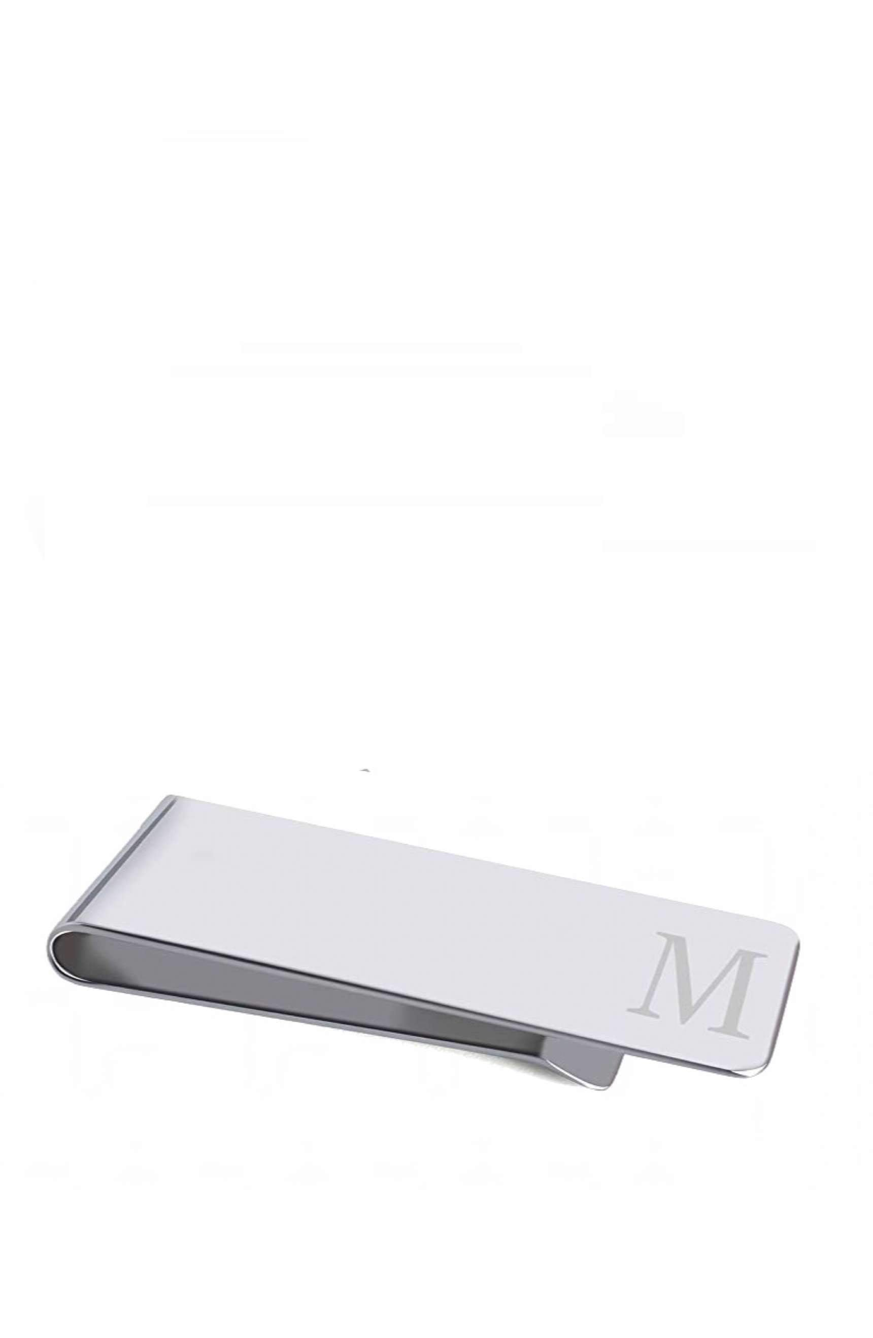 "Silver Initial ""M"" Money Clip"