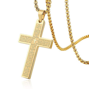 18K Gold Cross Necklace