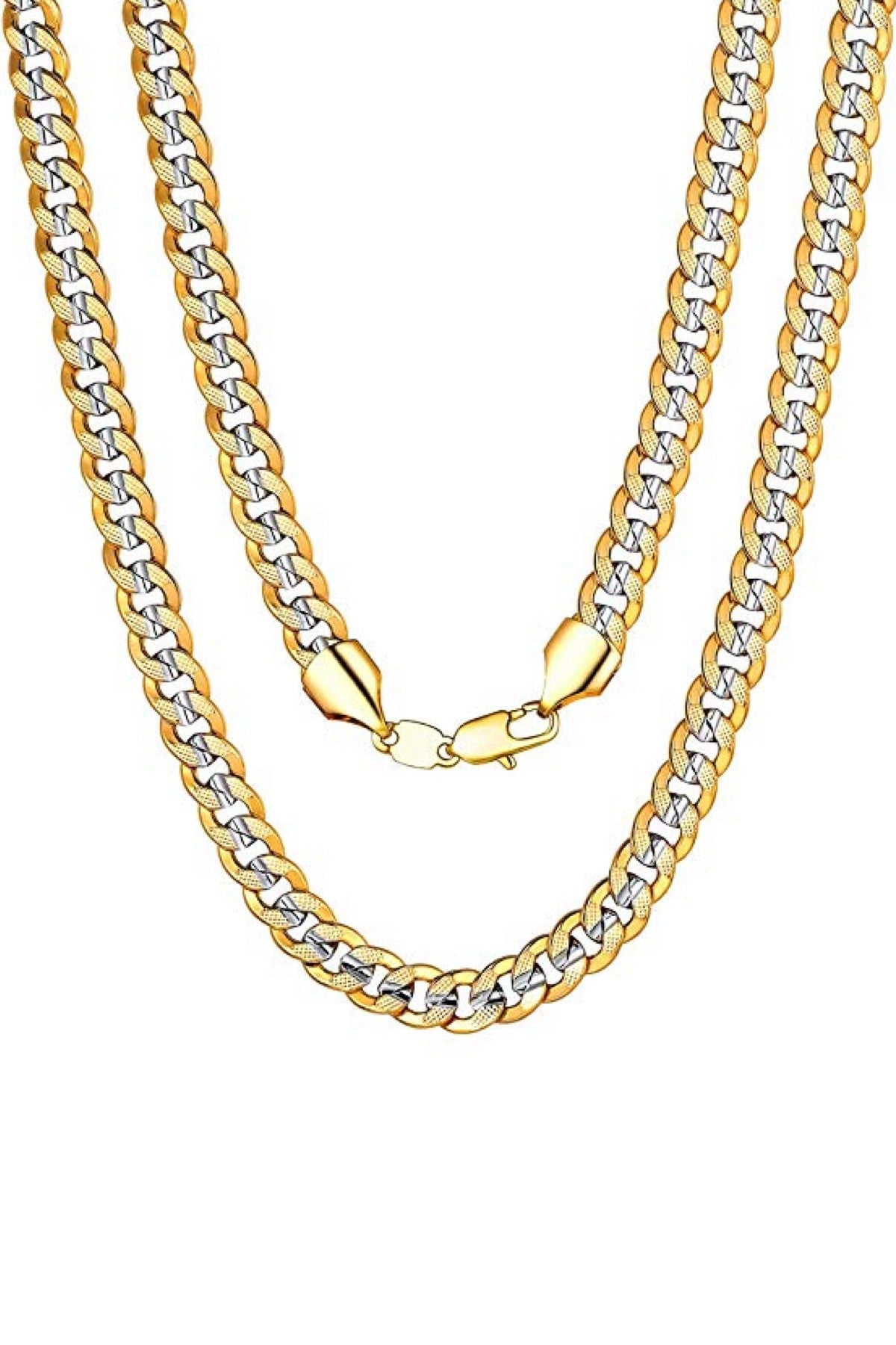 18k Gold & Silver Two Tone Necklace