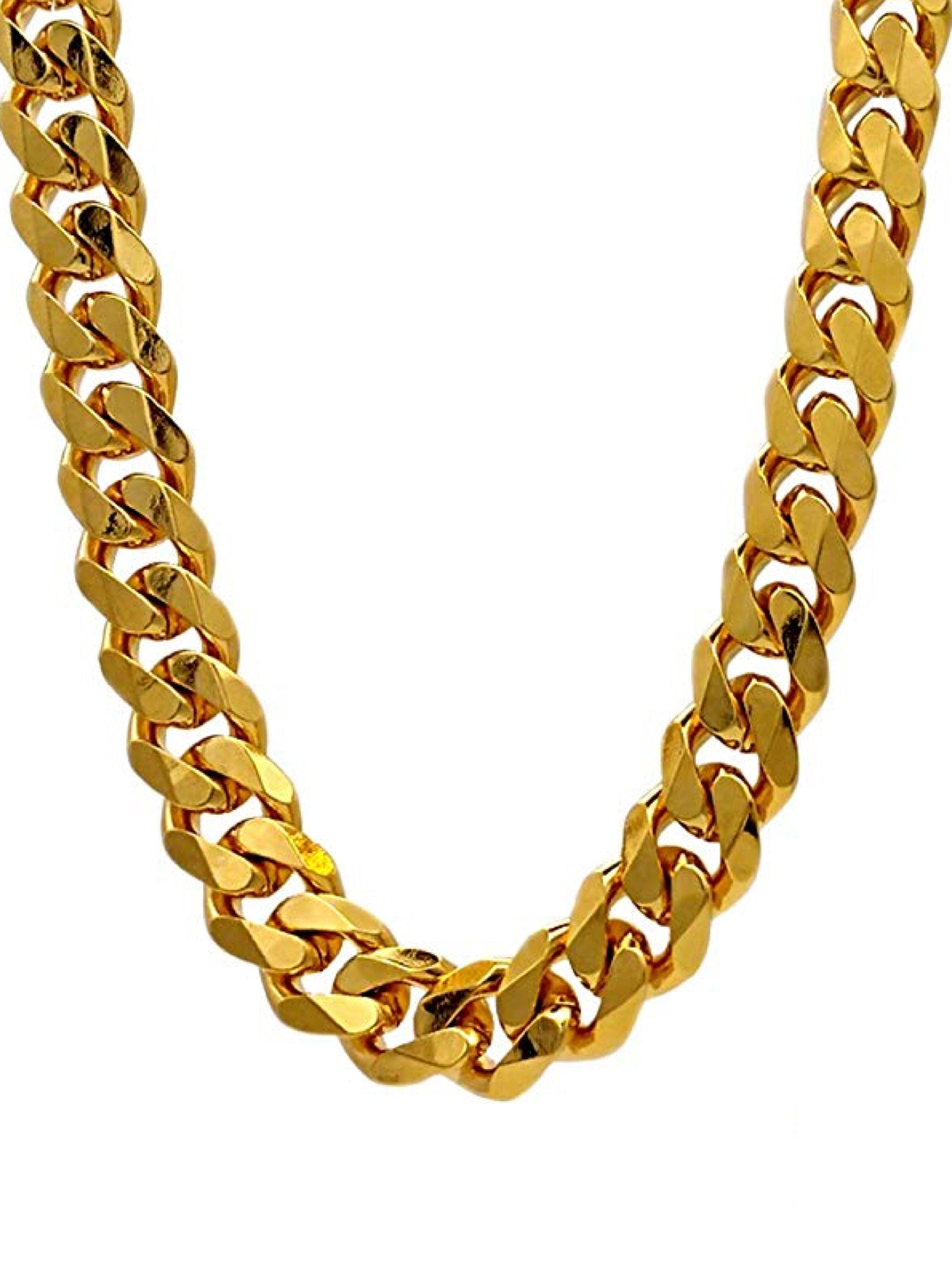 18k Gold Cable Necklace