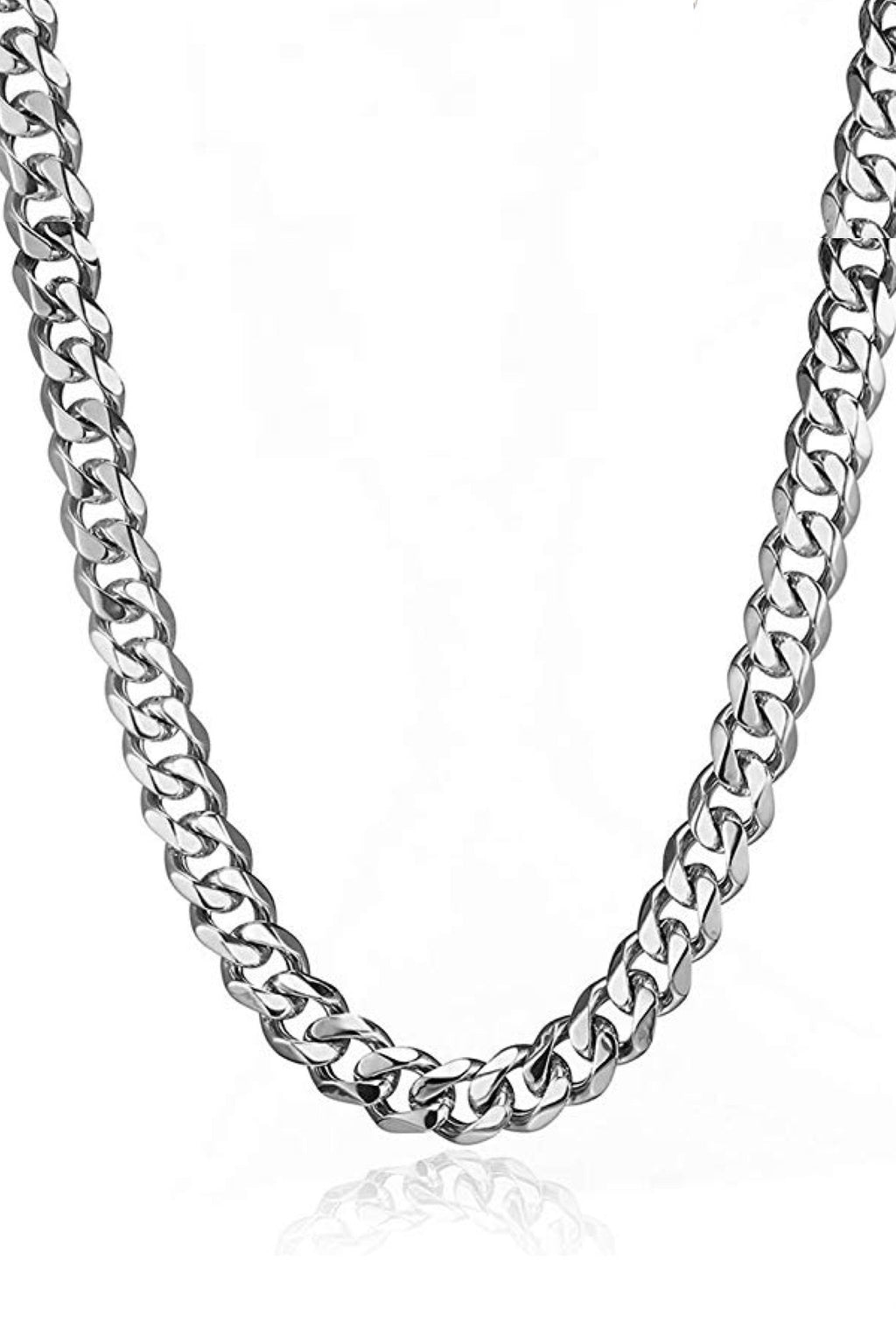 Silver Cable Necklace