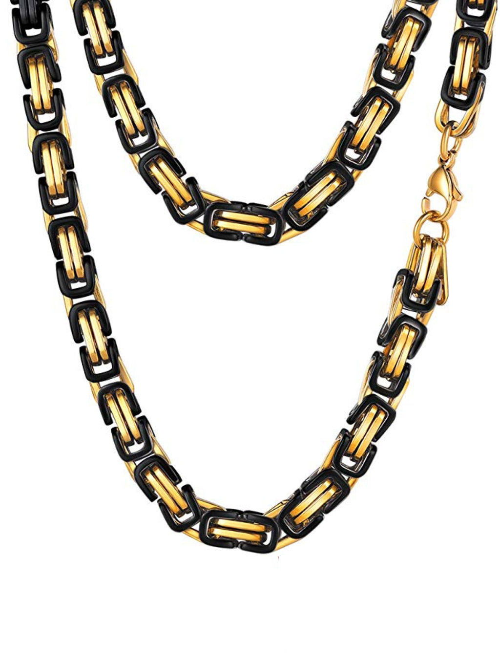 18k Gold & Black two Tone Necklace