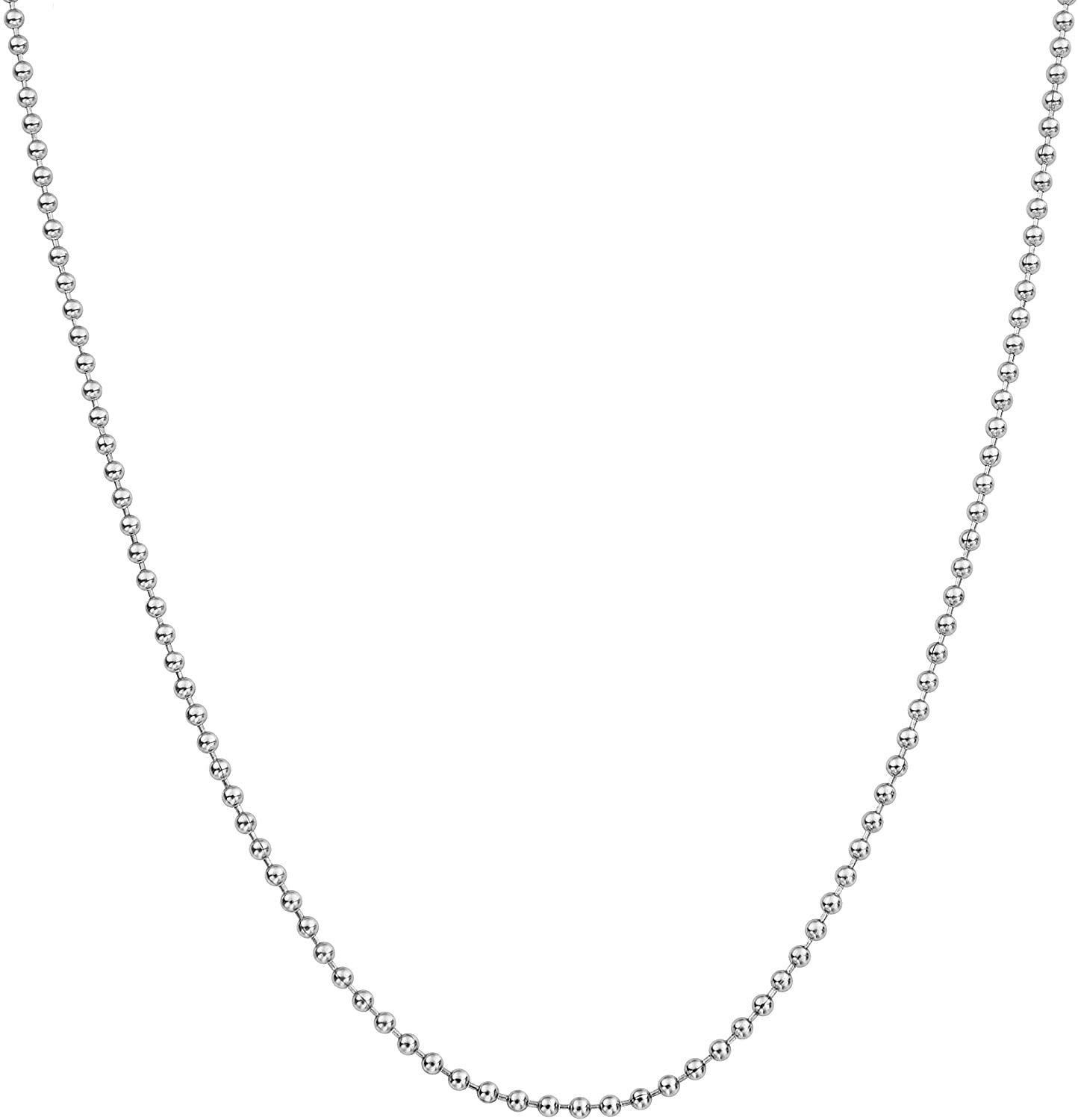 Silver Ball Bead Necklace