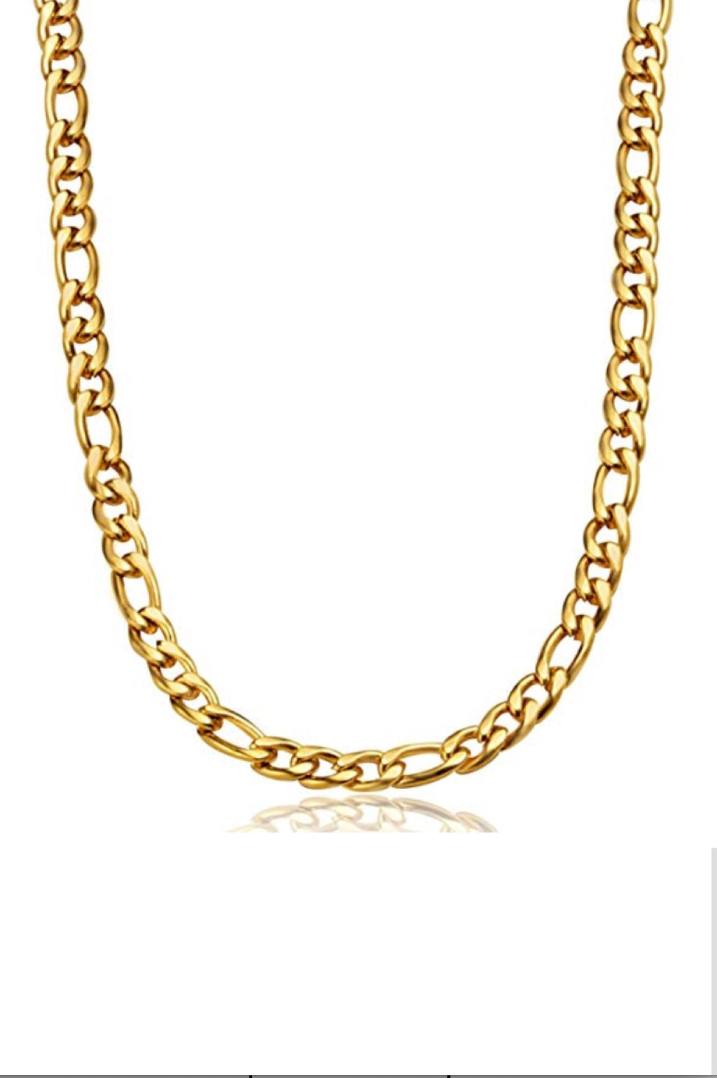 18K Gold Chain Figaro Link Necklace