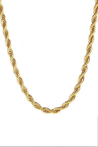18K Gold Twist Necklace