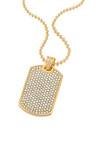 18k Gold Embelished Tag Necklace