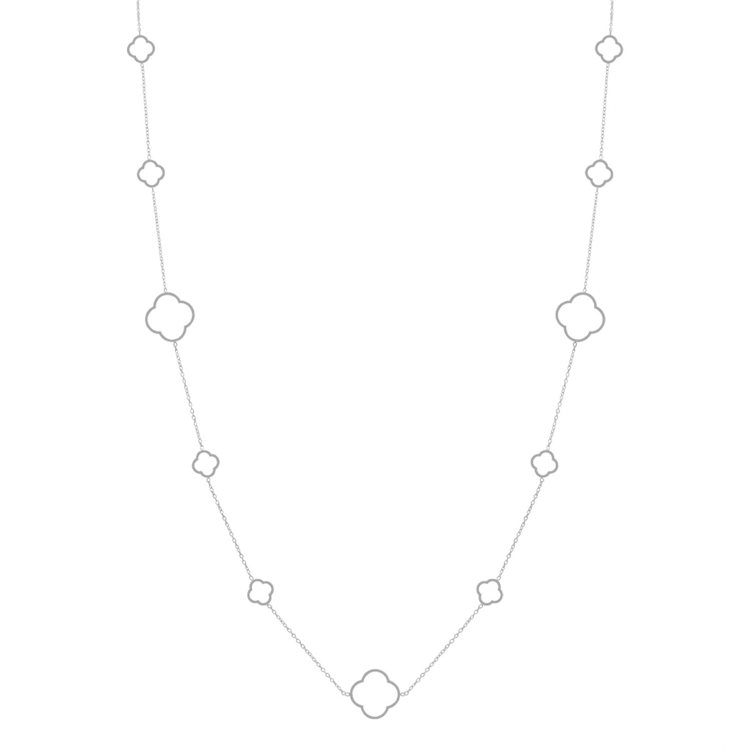 Silver Station Necklace