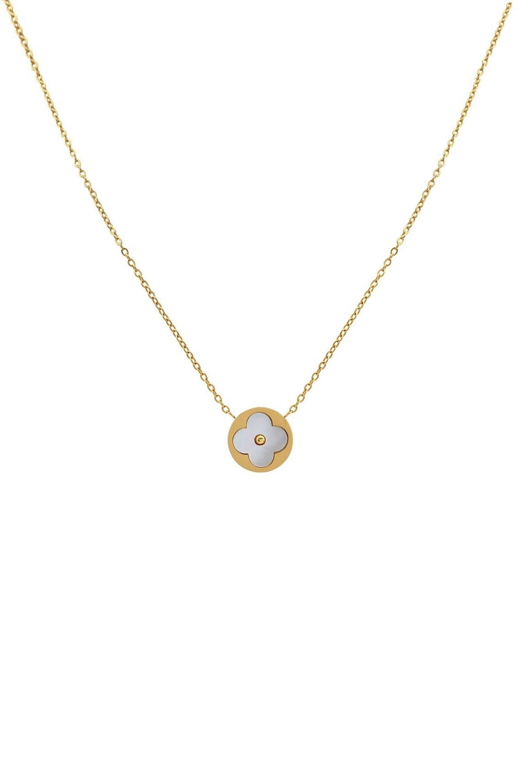 18K Gold & Mother Of Pearl Necklace