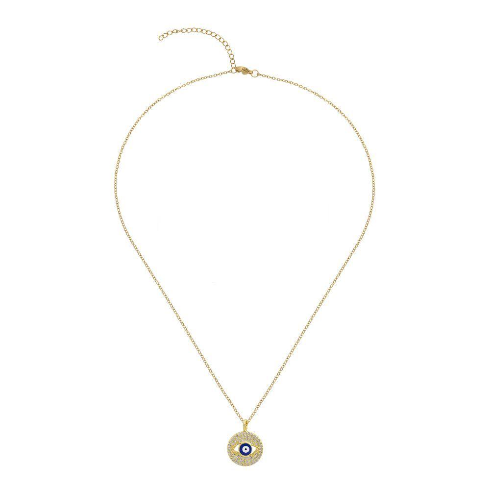 18K Gold Eye Embelished Eye Necklace