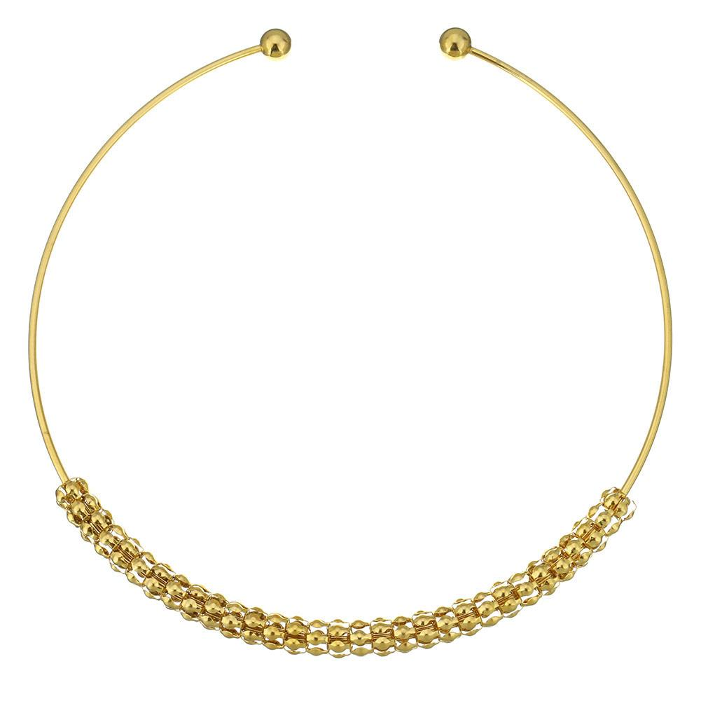 18k Gold Mesh Collar Necklace