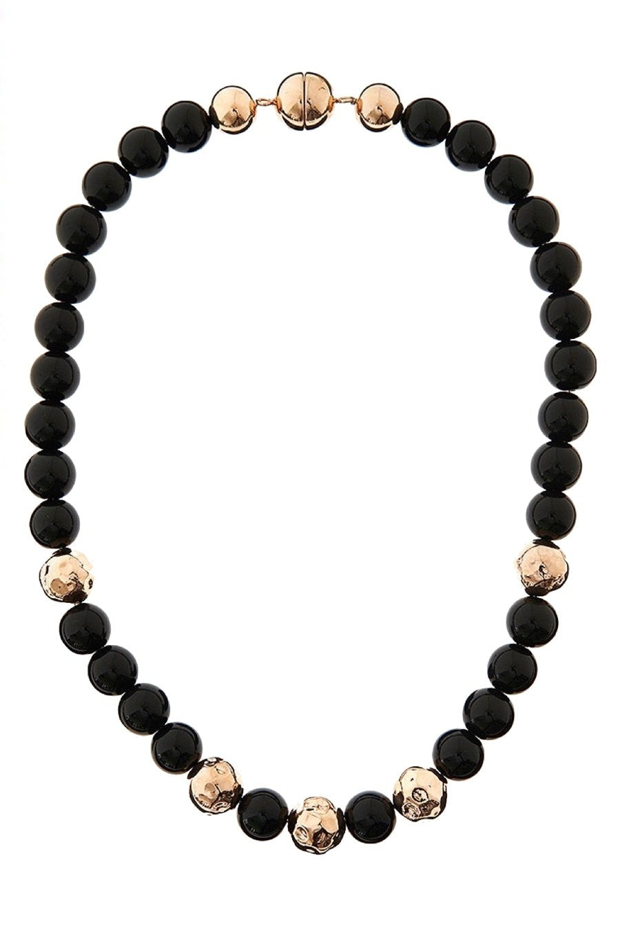 18k Rose Gold & Onyx Statement Necklace
