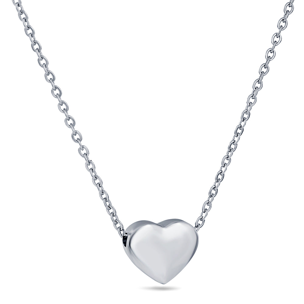Silver Heart Love Necklace